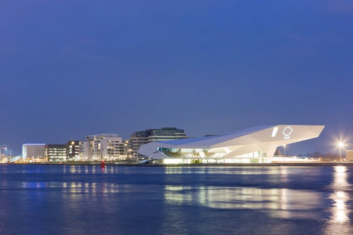 Architectural waterfront Amsterdam