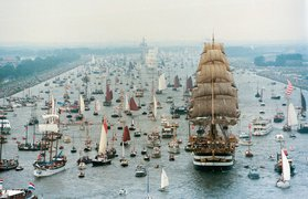 Sail event tall ships Amsterdam