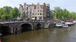 Canal bridge Amsterdam