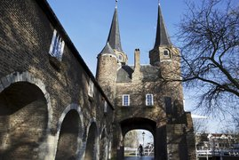 Medieval towers and city gate Delft