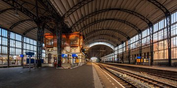 Historical train station Haarlem