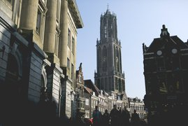 Dom tower and City hall Utrecht